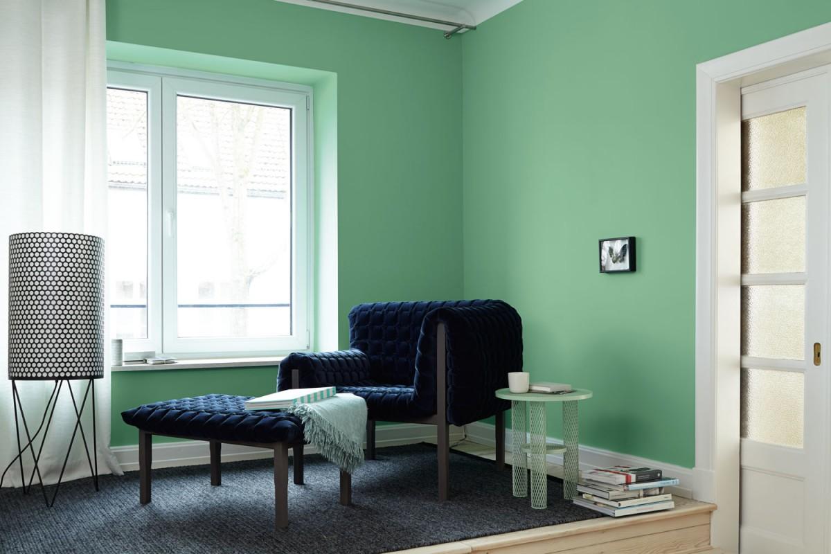Interior Inspiration Wandfarbe Grun